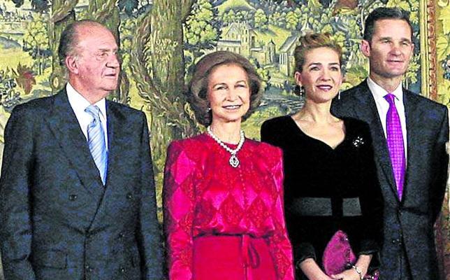 Don Juan Carlos, en el 50 cumpleaños de Urdangarín