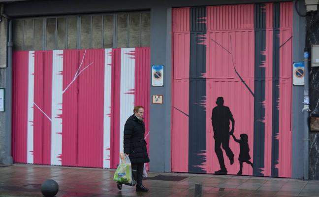 Amorebieta llena de color la calle Txiki Otaegi para dinamizar el comercio