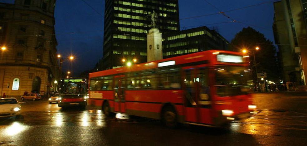 Bilbobus dejará bajarse de noche entre dos paradas por seguridad