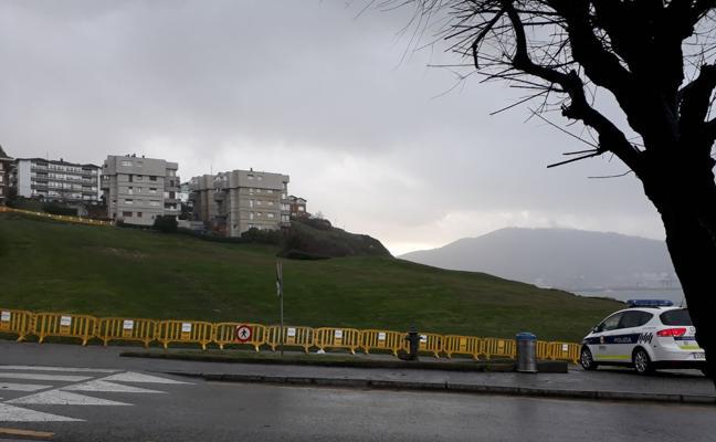 Cerrado el acceso a la campa de Arrigunaga en Getxo tras registrarse «movimientos de tierras»