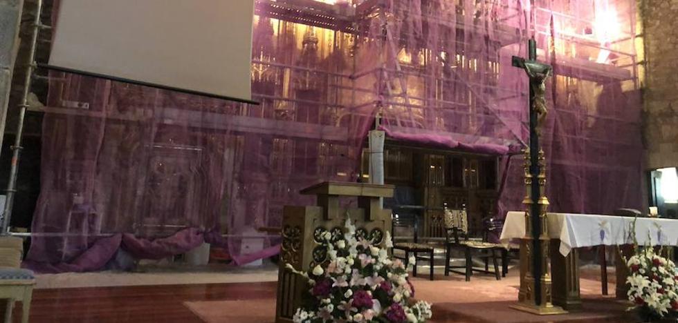 Santa María de Galdakao presumirá de retablo en un mes