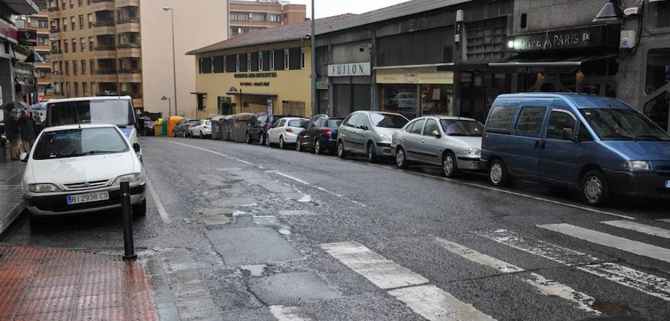 98.500 euros para las obras de reasfaltado de la carretera de la calle Kareaga Goikoa de Basauri