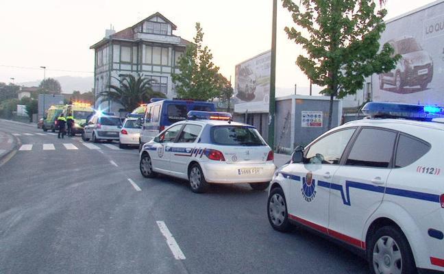 Dos detenidos en Getxo tras chocar con un coche policial en un vehículo robado