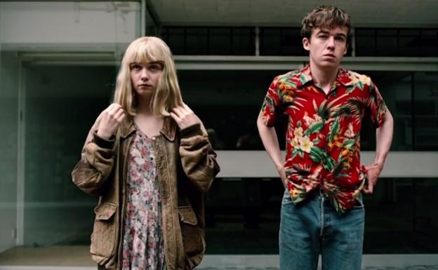 James (Alex Lawther) y Alyssa (Jessica Barden), protagonistas de 'The End of the F***ing World'.
