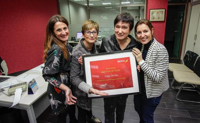 Iberia coloca a Viajes Amaia de Bermeo como la mejor agencia del norte de España