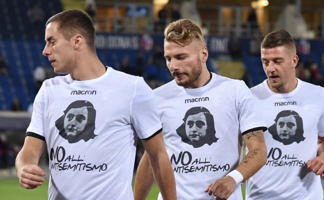 Simple multa para Lazio tras mofarse de Anna Frank