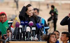 Angelina Jolie visita de nuevo a los refugiados sirios