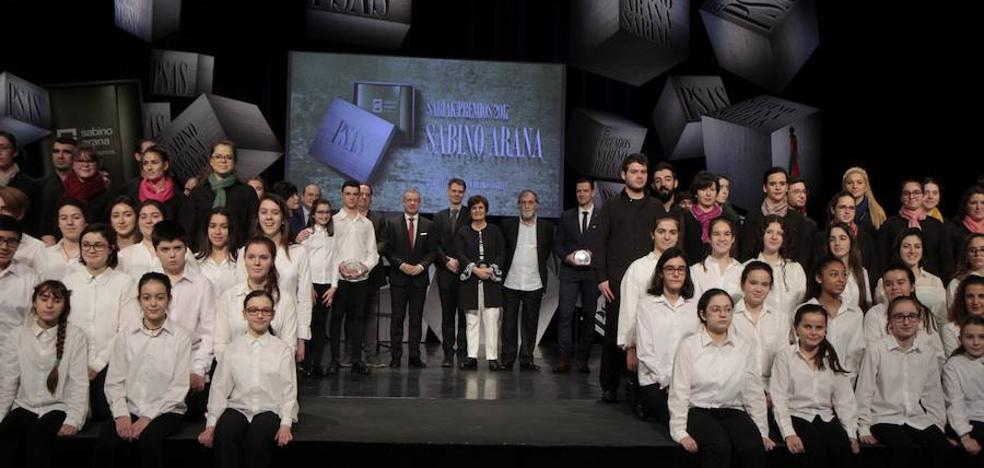 Premios Sabino Arana: el «grito colectivo» de 'No es no' alza la voz