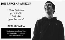 Berriz despedirá el viernes a Jon Barcena con un acto en el frontón