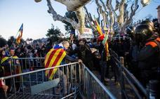 La protesta secesionista acaba a golpes y porrazos