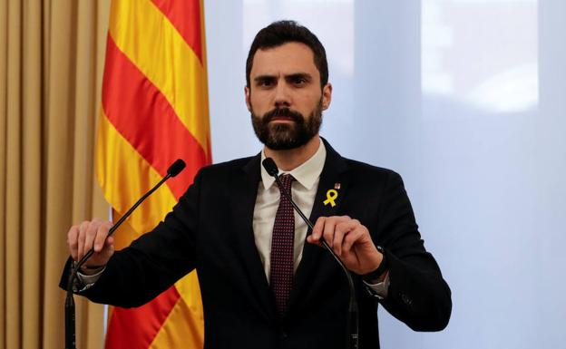 El presidente del Parlament, Roger Torrent./Reuters