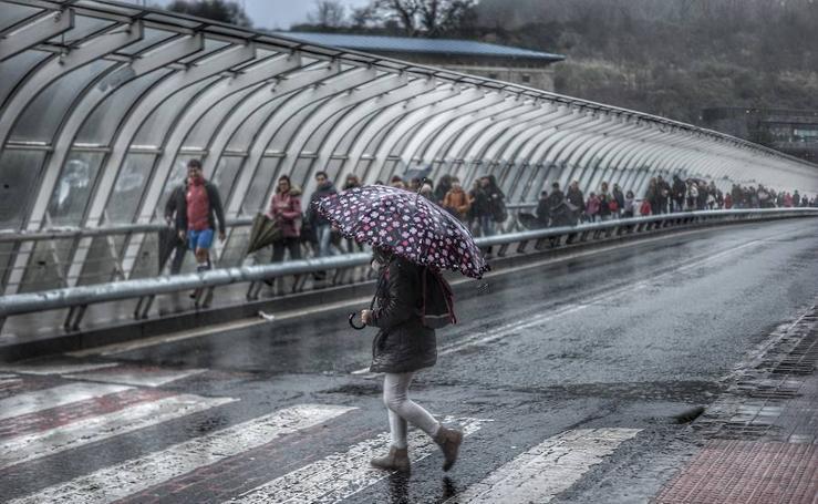 Las imágenes que ha dejado el temporal en Bizkaia