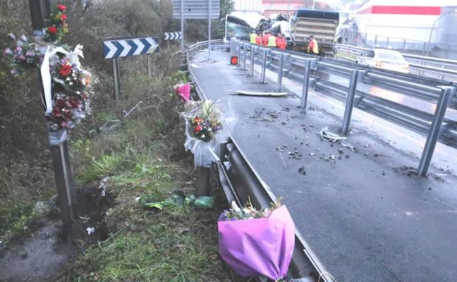 La zona del accidente de Galdakao: oscuridad, muchos camiones y curvas peligrosas