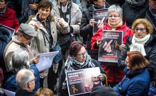 Miles de personas se manifiestan en Bilbao por «unas pensiones dignas»