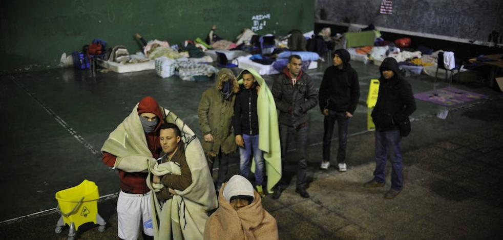 «No se puede dormir en la calle con tanto frío»