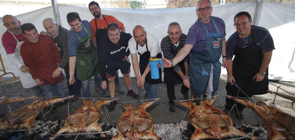El arte del asado al burduntzi en Abadiño