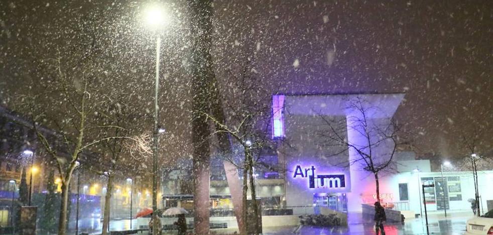 El Gobierno vasco activa hasta el jueves la alerta naranja por nieve en cotas bajas