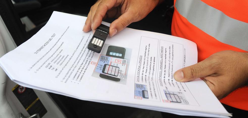 Da positivo en todas las drogas que detecta el test de Tráfico en Pontevedra