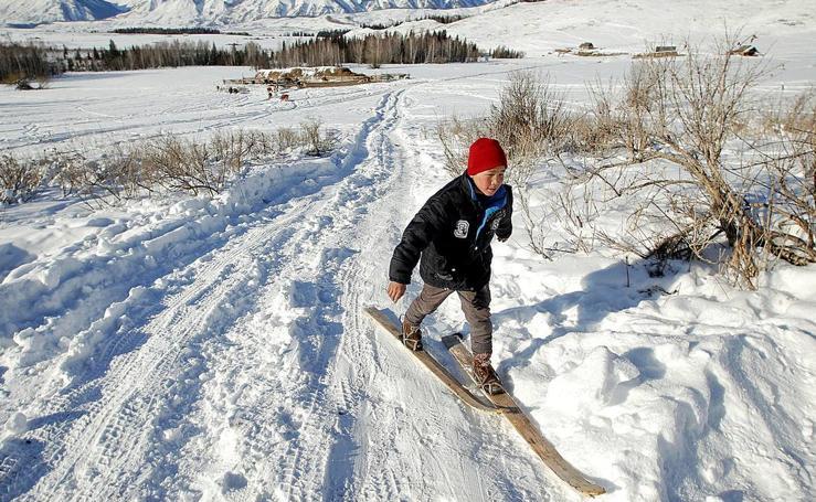 Esquí en el oeste remoto de China