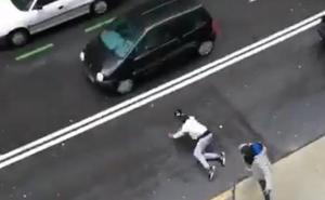 Los vecinos de Mazarredo, «hartos» tras una nueva pelea este domingo en plena calle