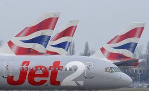 Aterriza de emergencia en Loiu un avión británico con 180 pasajeros por un aviso de fallo de motor