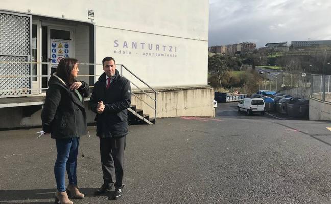 La Diputación inicia las obras del vivero de empresas de Santurtzi, que estará operativo a partir de «junio»