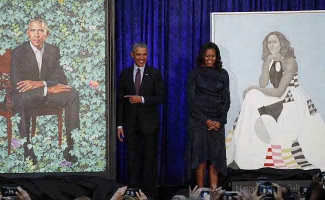 Retrato oficial de los Obama: ¿y la sonrisa de Michelle?