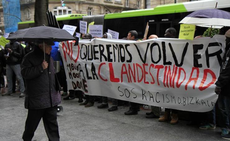 Fotos: manifestación en Bilbao de los vendedores ambulantes