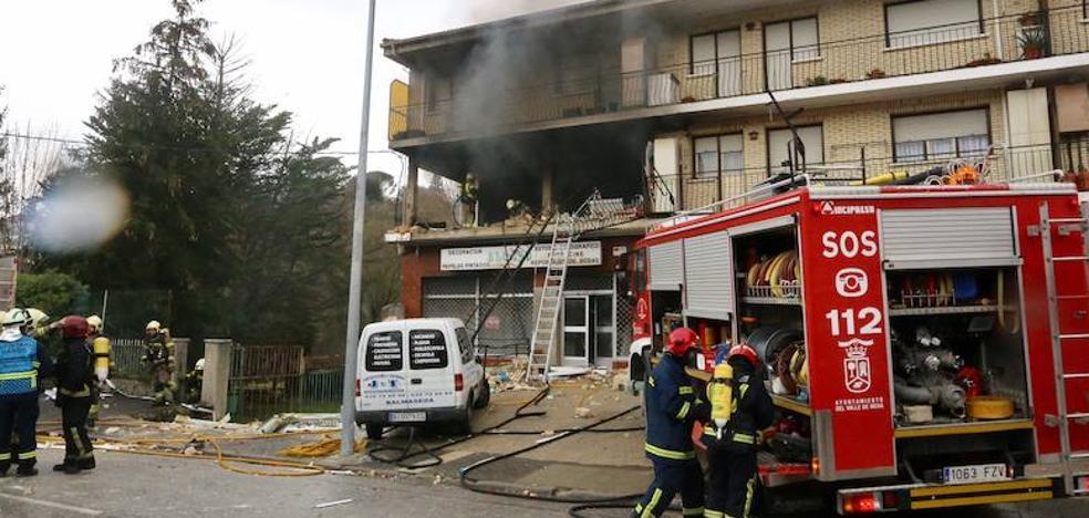 Cuatro heridos en una explosión de gas en una casa de Villasana de Mena
