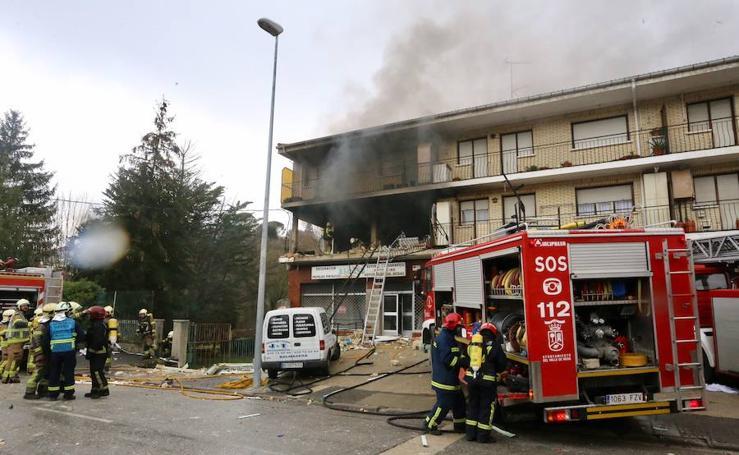 Las imágenes de la explosión en una vivienda de Villasana de Mena
