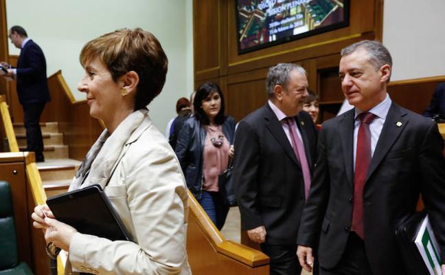 Acuerdo en el Parlamento vasco para criticar las «injerencias» del Estado en el autogobierno