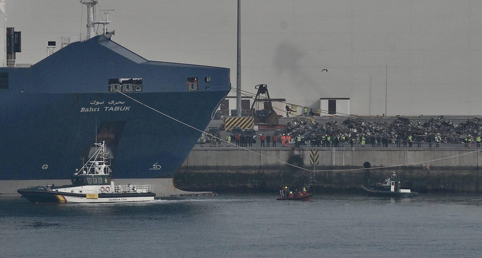 Protesta de Greenpeace en el Puerto de Bilbao