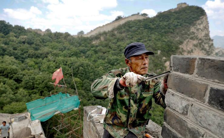 Retoques en la Gran Muralla China