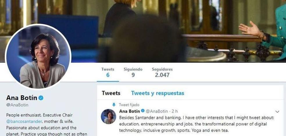 Ana Botín abre una cuenta
