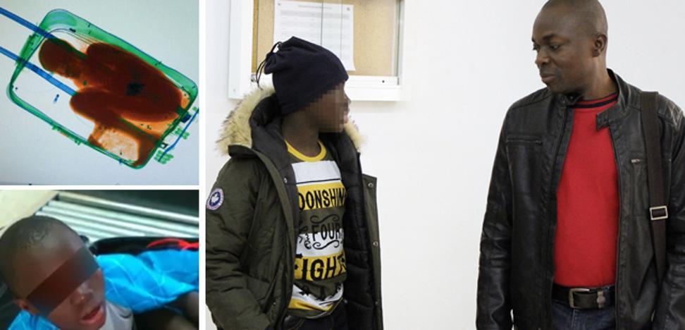 'El niño de la maleta' regresa a Bilbao con su padre, condenado a pagar una multa de 92 euros