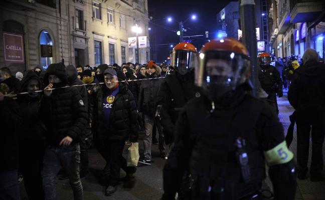 Los ultras del Spartak de Moscú ponen en máxima alerta a Bilbao