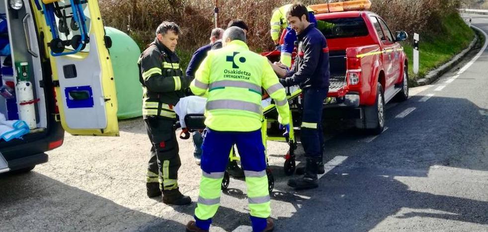 Herida una mujer al caerle sobre el pie un árbol cuando varias personas cortaban leña en Artziniega