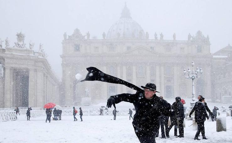 La nieve colapsa Europa