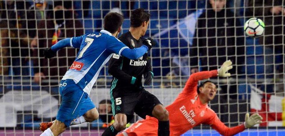 El Espanyol frena también al Real Madrid
