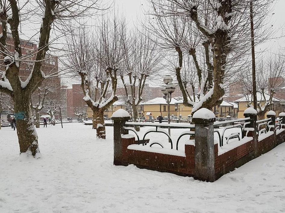 La nevada en Santutxu (28 de febrero de 2018)