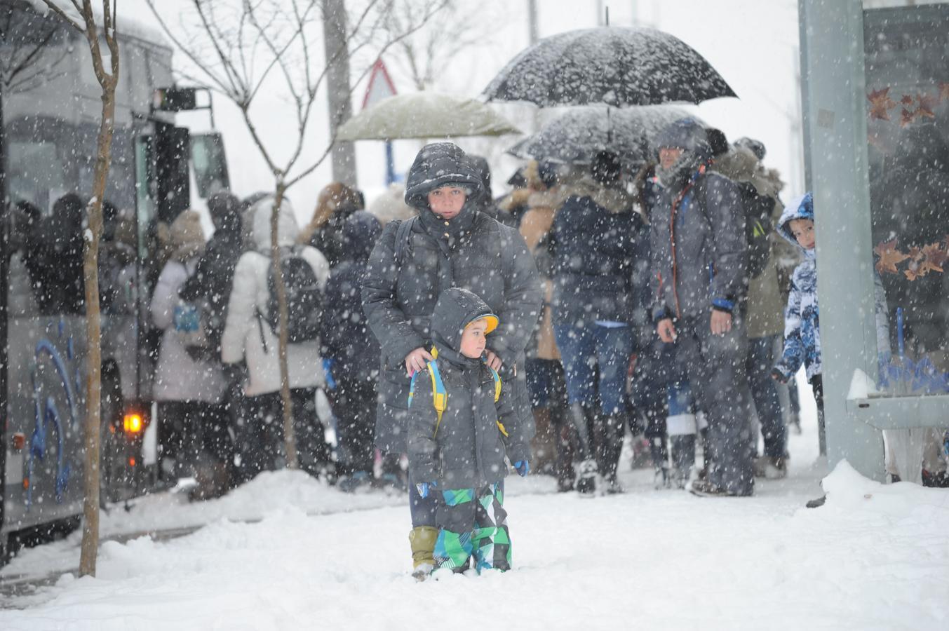 Álava despide febrero bajo la nieve