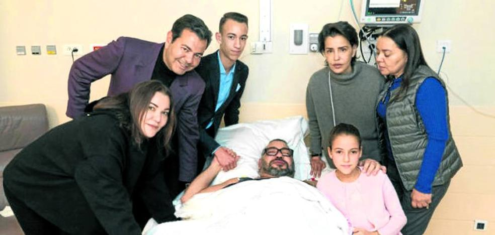 El corazón le da un susto a Mohamed VI