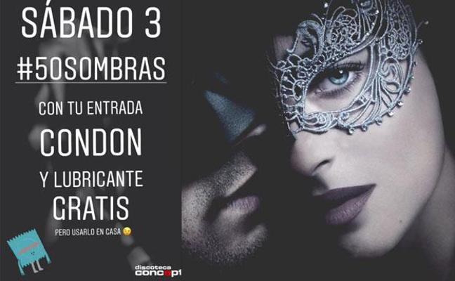 Polémico anuncio a lo '50 sombras de Grey' de una discoteca de Logroño: «Copas, condón y lubricante gratis»
