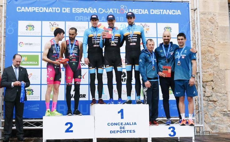 El equipo ANB Triathlon Team, campeón de España de Duatlón de Media Distancia