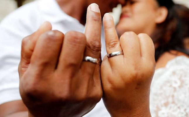 Las rupturas matrimoniales descienden un 4,5 por ciento en 2017