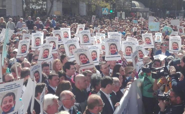 Concentración en apoyo a la familia de Gabriel en Almería