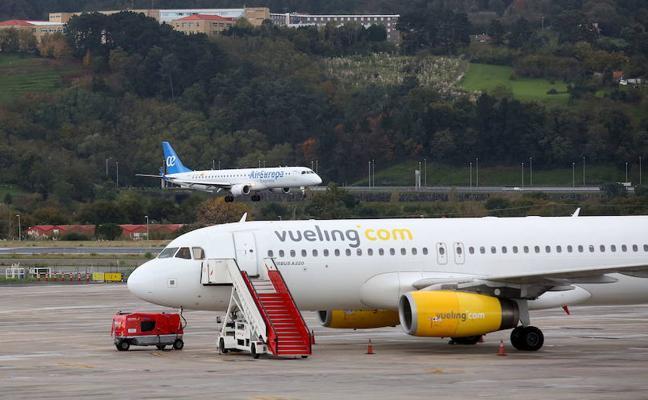 El tráfico aéreo de Loiu sube un 9,2% en febrero