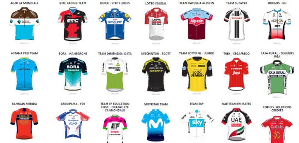 Vuelta al País Vasco 2018: los 22 equipos y 154 ciclistas de la Itzulia