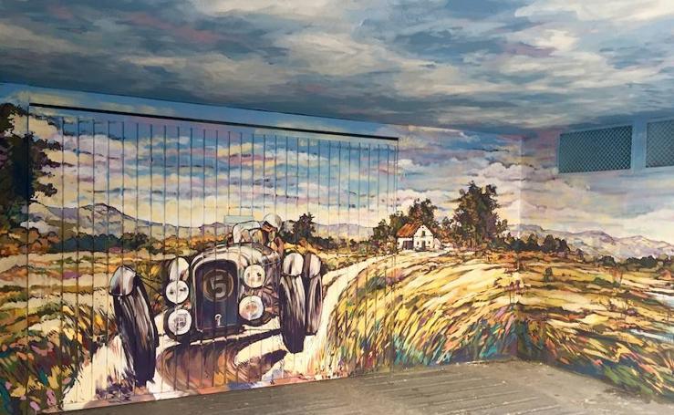 Arte a pie de calle en los garajes de Vitoria
