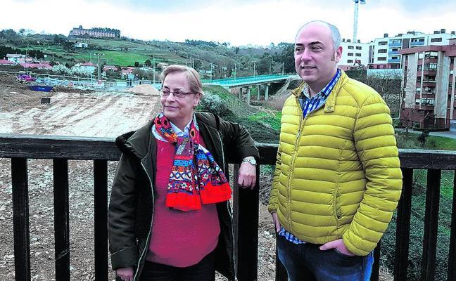 Un nuevo puente une desde hoy los barrios del oeste y el centro de Leioa